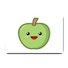 Kawaii Green Apple Small Doormat  by KawaiiKawaii