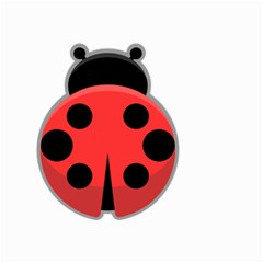 Kawaii Ladybug Small Garden Flag (two Sides) by KawaiiKawaii