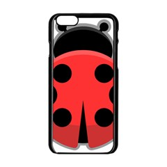 Kawaii Ladybug Apple Iphone 6 Black Enamel Case by KawaiiKawaii