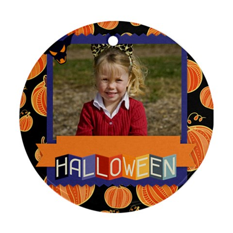 Halloween By Helloween   Ornament (round)   95jsdy10rlqm   Www Artscow Com Front