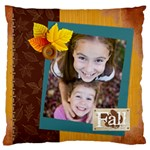 fall - Large Flano Cushion Case (Two Sides)