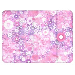 Lovely Allover Ring Shapes Flowers Pink Samsung Galaxy Tab 7  P1000 Flip Case by MoreColorsinLife