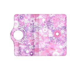 Lovely Allover Ring Shapes Flowers Pink Kindle Fire Hd (2013) Flip 360 Case by MoreColorsinLife