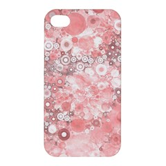 Lovely Allover Ring Shapes Flowers Apple Iphone 4/4s Premium Hardshell Case by MoreColorsinLife