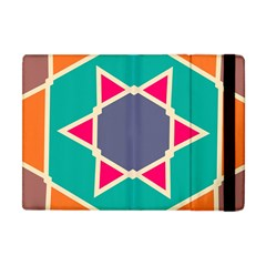 Red retro star Apple iPad Mini Flip Case by LalyLauraFLM