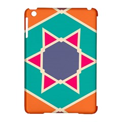 Red Retro Star Apple Ipad Mini Hardshell Case (compatible With Smart Cover) by LalyLauraFLM