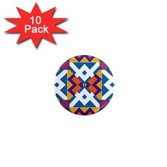 Shapes In Rectangles Pattern 1  Mini Magnet (10 Pack)  by LalyLauraFLM