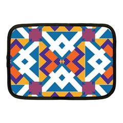 Shapes In Rectangles Pattern Netbook Case (medium) by LalyLauraFLM
