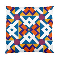 Shapes In Rectangles Pattern Standard Cushion Case (two Sides) by LalyLauraFLM