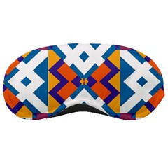 Shapes in rectangles pattern Sleeping Mask by LalyLauraFLM