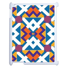 Shapes In Rectangles Pattern Apple Ipad 2 Case (white) by LalyLauraFLM