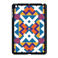 Shapes in rectangles pattern Apple iPad Mini Case (Black) by LalyLauraFLM