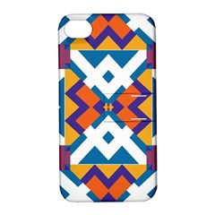 Shapes In Rectangles Pattern Apple Iphone 4/4s Hardshell Case With Stand by LalyLauraFLM