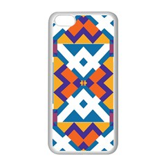 Shapes In Rectangles Pattern Apple Iphone 5c Seamless Case (white) by LalyLauraFLM