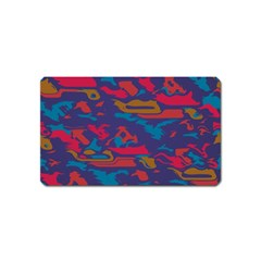 Chaos in retro colors Magnet (Name Card) by LalyLauraFLM