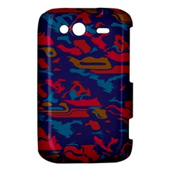 Chaos in retro colors HTC Wildfire S A510e Hardshell Case by LalyLauraFLM