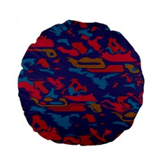 Chaos In Retro Colors Standard 15  Premium Round Cushion  by LalyLauraFLM