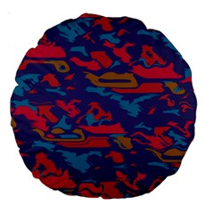 Chaos In Retro Colors Large 18  Premium Round Cushion  by LalyLauraFLM