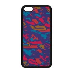 Chaos in retro colors Apple iPhone 5C Seamless Case (Black)