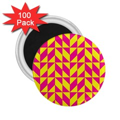 Pink And Yellow Shapes Pattern 2 25  Magnet (100 Pack)  by LalyLauraFLM
