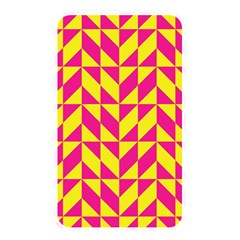 Pink And Yellow Shapes Pattern Memory Card Reader (rectangular) by LalyLauraFLM