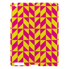 Pink And Yellow Shapes Pattern Apple Ipad 3/4 Hardshell Case by LalyLauraFLM