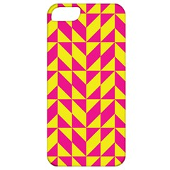 Pink And Yellow Shapes Pattern Apple Iphone 5 Classic Hardshell Case by LalyLauraFLM