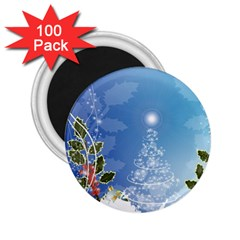 Christmas Tree 2 25  Magnets (100 Pack)  by FantasyWorld7