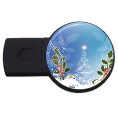Christmas Tree Usb Flash Drive Round (4 Gb)  by FantasyWorld7