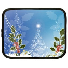 Christmas Tree Netbook Case (xl)  by FantasyWorld7