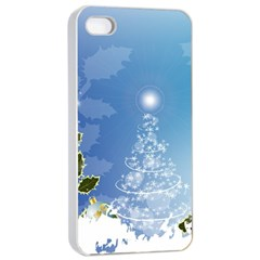 Christmas Tree Apple Iphone 4/4s Seamless Case (white)