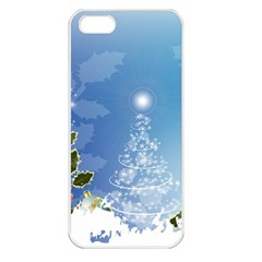 Christmas Tree Apple Iphone 5 Seamless Case (white) by FantasyWorld7