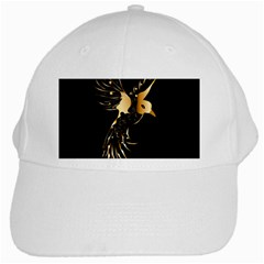Beautiful Bird In Gold And Black White Cap