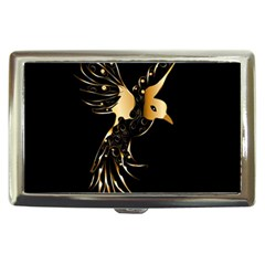 Beautiful Bird In Gold And Black Cigarette Money Cases