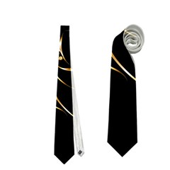 Beautiful Bird In Gold And Black Neckties (two Side)