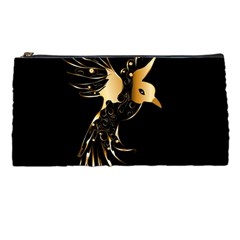 Beautiful Bird In Gold And Black Pencil Cases by FantasyWorld7