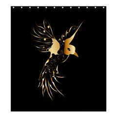 Beautiful Bird In Gold And Black Shower Curtain 66  X 72  (large)