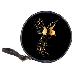 Beautiful Bird In Gold And Black Classic 20 Cd Wallets