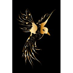 Beautiful Bird In Gold And Black 5 5  X 8 5  Notebooks by FantasyWorld7