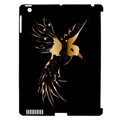 Beautiful Bird In Gold And Black Apple Ipad 3/4 Hardshell Case (compatible With Smart Cover) by FantasyWorld7