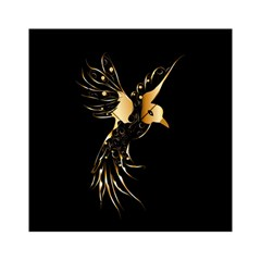 Beautiful Bird In Gold And Black Acrylic Tangram Puzzle (6  X 6 )