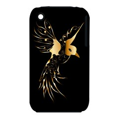 Beautiful Bird In Gold And Black Apple Iphone 3g/3gs Hardshell Case (pc+silicone) by FantasyWorld7