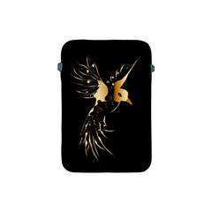 Beautiful Bird In Gold And Black Apple Ipad Mini Protective Soft Cases
