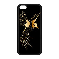 Beautiful Bird In Gold And Black Apple Iphone 5c Seamless Case (black)