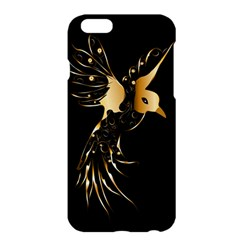 Beautiful Bird In Gold And Black Apple Iphone 6/6s Plus Hardshell Case