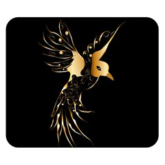 Beautiful Bird In Gold And Black Double Sided Flano Blanket (small)  by FantasyWorld7