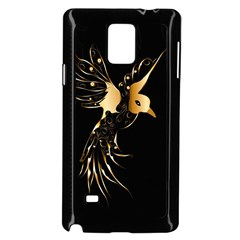 Beautiful Bird In Gold And Black Samsung Galaxy Note 4 Case (black)