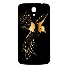 Beautiful Bird In Gold And Black Samsung Galaxy Mega I9200 Hardshell Back Case