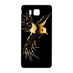 Beautiful Bird In Gold And Black Samsung Galaxy Alpha Hardshell Back Case by FantasyWorld7