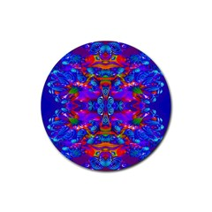 Abstract 4 Rubber Round Coaster (4 Pack)  by icarusismartdesigns
